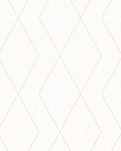 Non-Woven Wallpaper Triangle Graphic silver Gloss 6737-70 online kaufen