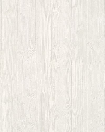 Non-Woven Wallpaper Wood Look 3D white grey 6715-10