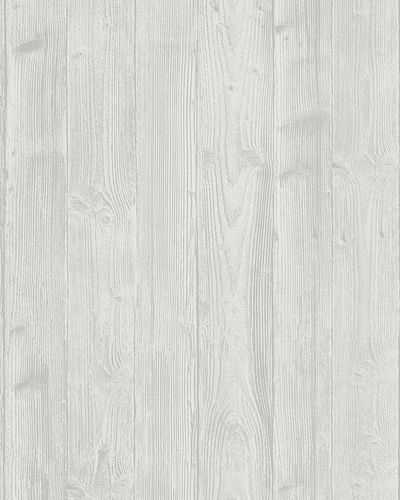 Non-Woven Wallpaper Wood Look 3D light grey white 6715-20