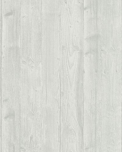 Vliestapete Holzoptik 3D hellgrau weiß Belinda 6715-20