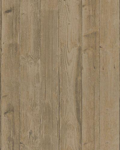 Vliestapete Holzoptik 3D grau beige Belinda 6715-40