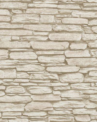 Non-Woven Wallpaper 3D Stone Wall pale cream 6721-30 online kaufen