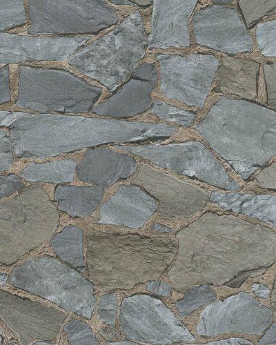 Non-Woven Wallpaper 3D Stone blue grey beige 6722-20 online kaufen