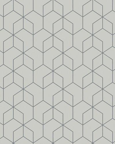 Non-Woven Wallpaper Hexagon grey silver Gloss 6743-10 online kaufen