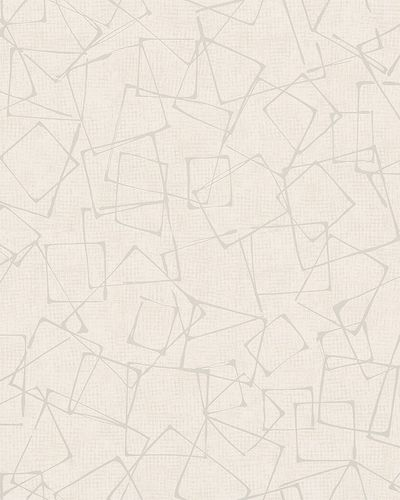 Non-Woven Wallpaper Rectangles beige gloss 6745-10