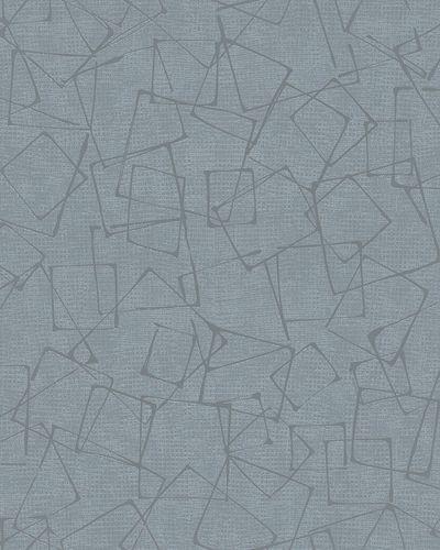 Tapete Vlies Vierecke Grafik blaugrau silber Glanz 6745-30 online kaufen