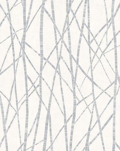 Non-Woven Wallpaper Branch Pattern white grey Gloss 6747-20 online kaufen