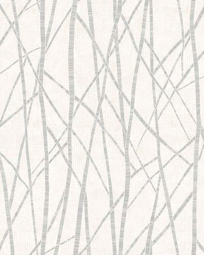Non-Woven Wallpaper Branch Pattern cream grey Gloss 6747-30 online kaufen