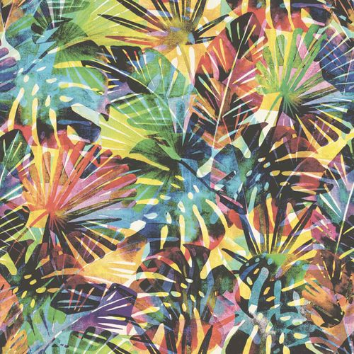 Non-Woven Wallpaper Tropical Leaves colours Rasch 815344 buy online