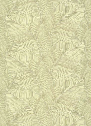 Non-Woven Wallpaper Leaves green taupe Glitter 10021-07 online kaufen