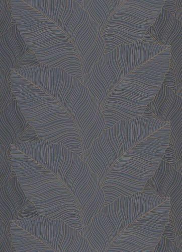 Non-Woven Wallpaper Leaves black Metallic 10021-47 online kaufen