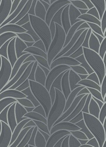 Tapete Vlies Blätter Grafisch schwarz Metallic 10023-15