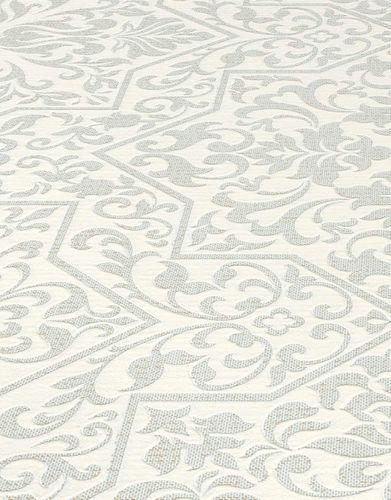 Tapete Vlies Ornamente weiß silber Metallic Bali 10024-01