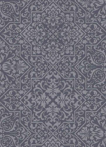 Tapete Vlies Ornamente schwarz silber Metallic 10024-15