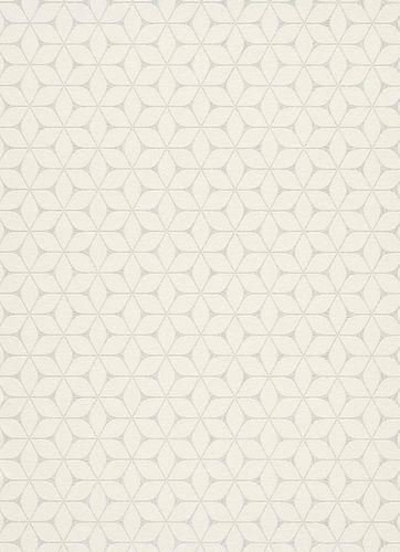 Tapete Vlies Grafisch Modern weiß beige Metallic 10025-01