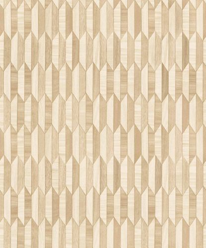 Vinyl Wallpaper Graphical Wood Retro brown beige IW3301 online kaufen