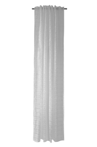 Loop Curtain semi-transparent white fringes 5098-05