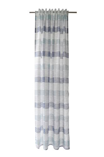 Loop Curtain semi-transparent striped blue 5396-04 online kaufen
