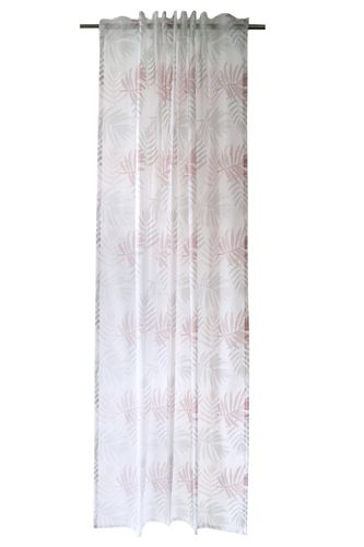 Loop Curtain transparent graphic leaves rosé 5413-00 online kaufen