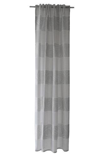 Loop Curtain semi-transparent striped silver 5411-02 online kaufen