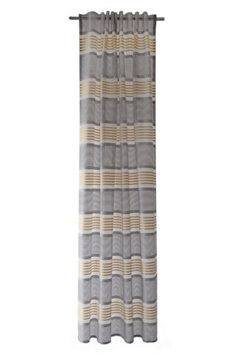 Loop Curtain semi-transparent striped brown 5325-06 online kaufen