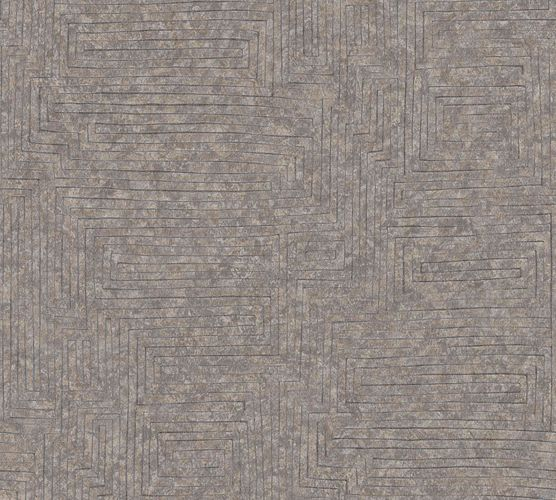 Vinyl Wallpaper Graphic Modern brown silver 37171-1 online kaufen