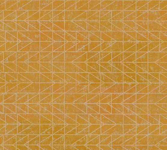 Vinyltapete Ethno Zick-Zack gelb hellsilber 37174-3 online kaufen