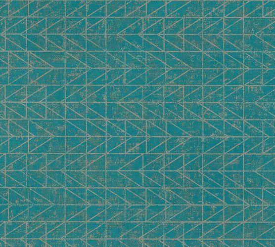 Vinyltapete Ethno Zick-Zack blau kupfer 37174-4 online kaufen