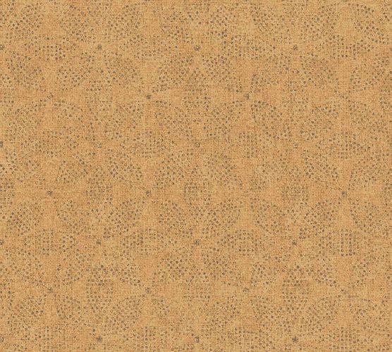 Vinyltapete Ethno Floral gelbbraun schwarz 37176-1 online kaufen