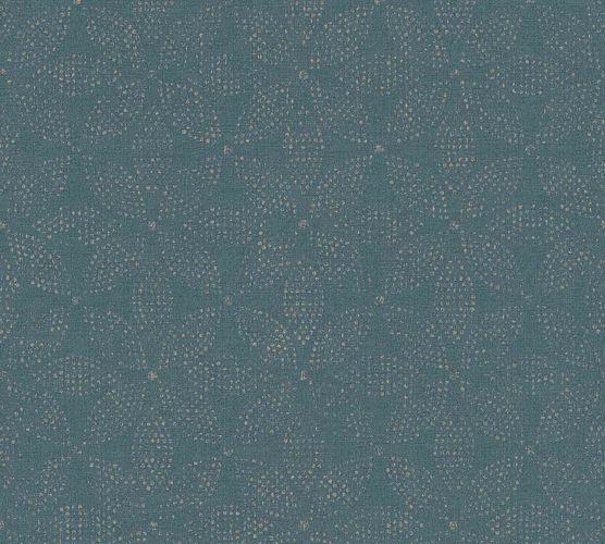 Vinyltapete Ethno Floral blau bronze 37176-2 online kaufen