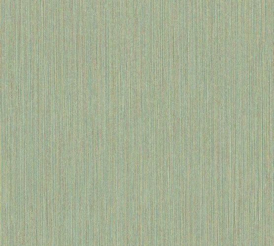 Vinyl Wallpaper Vintage Stripes green brown 37179-4 online kaufen