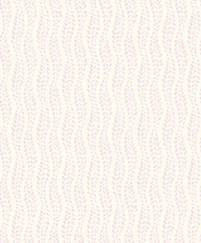 Tapete Vlies Punkte Ranken weiß rosa Grandeco ON4003