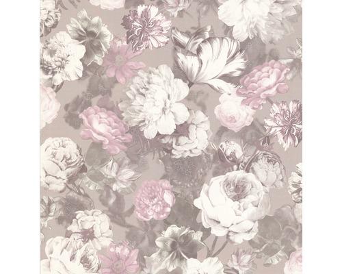 Tapete Vlies Blumen Floral beige rosa Glanz 02513-70