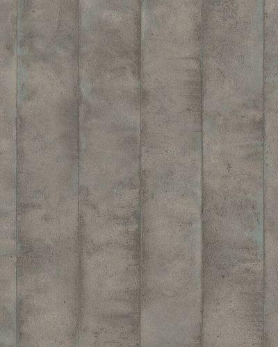 Tapete Vlies Balken Beton braun grau metallic 31614