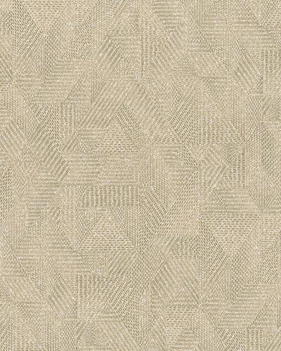 Tapete Vlies Textil braun beige Glanz 31618