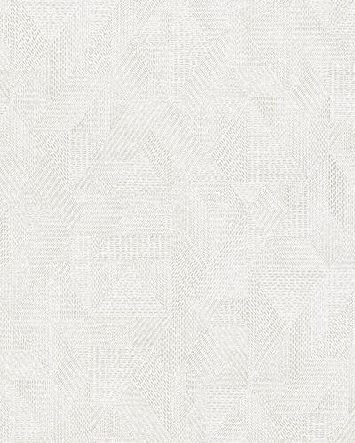 Tapete Vlies Textil hellgrau silber Glanz 31619