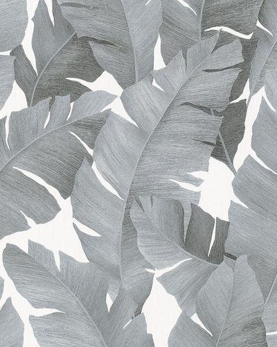 Tapete Vlies Bananenblätter weiß silber metallic 31624 online kaufen