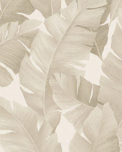Tapete Vlies Bananenblätter beige creme metallic 31625 online kaufen