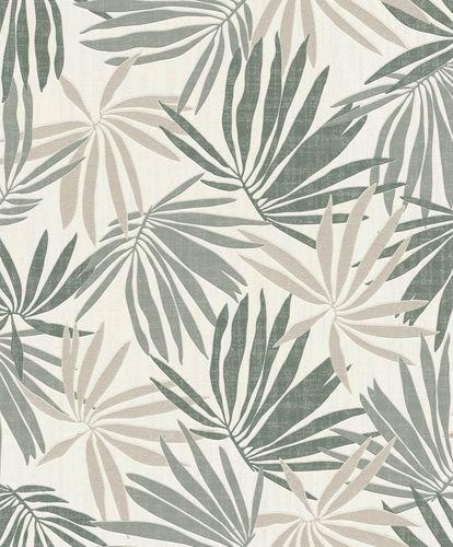 Tapete Vlies Tropisch weiß grün metallic Rasch 535402 online kaufen