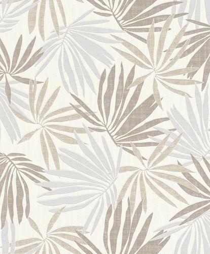 Tapete Vlies Tropisch weiß grau metallic Rasch 535419 online kaufen