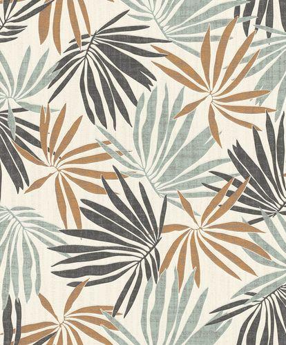 Tapete Vlies Tropisch weiß grün metallic Rasch 535433 online kaufen