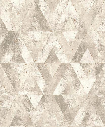 Non-Woven Wallpaper Triangles white grey metallic 535525 online kaufen