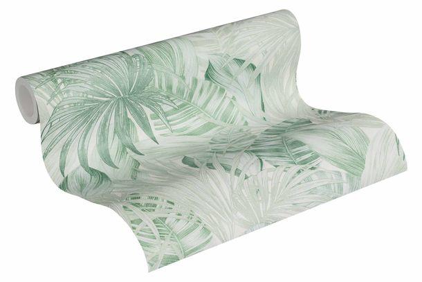 Tapete Vlies Botanik Dschungel weiß hellgrün 36820-2