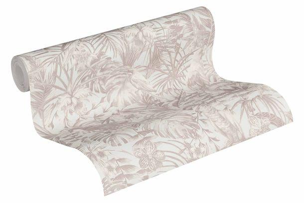 Tapete Vlies Vögel Dschungel weiß creme 37210-2 online kaufen