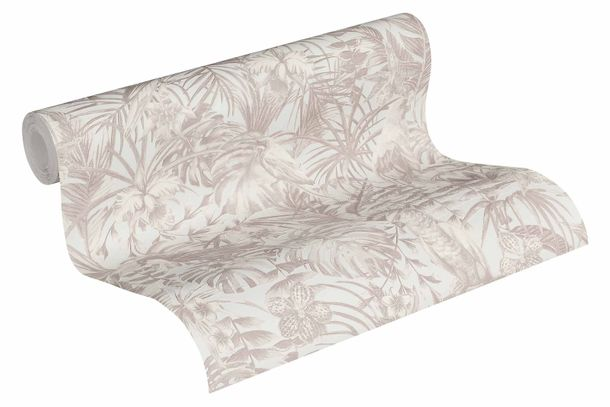 Wallpaper Non-Woven Birds Jungle white creme 37210-2 online kaufen