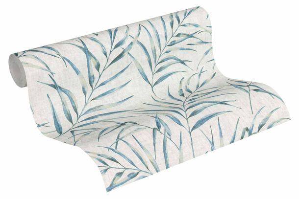 Tapete Vlies Farn Blätter grau blau 37335-1 online kaufen