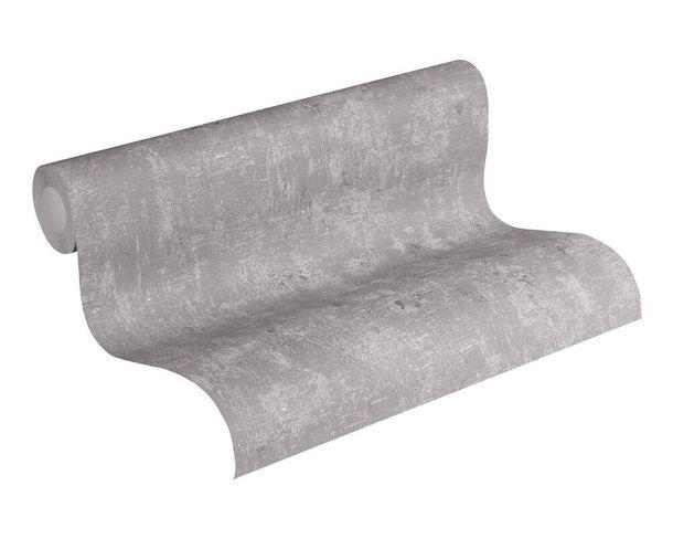 Non-Woven Wallpaper Concrete Look grey silver Gloss 307-13 online kaufen