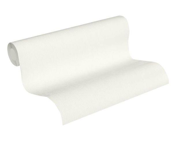 Tapete Vlies Einfarbig Streifen weiß 2885-78