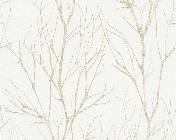 Tapete Vlies Floral Äste cremeweiß gold metallic 37260-3 online kaufen