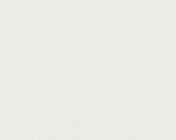 Tapete Vlies Einfarbig Struktur weiß 37262-3